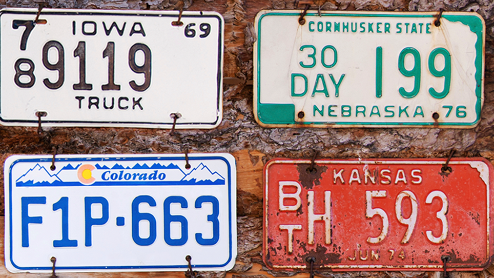 Midwest license plates
