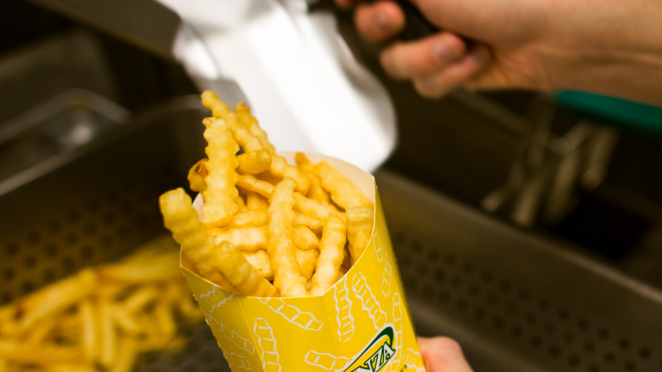 Runza's crinkly and golden fries