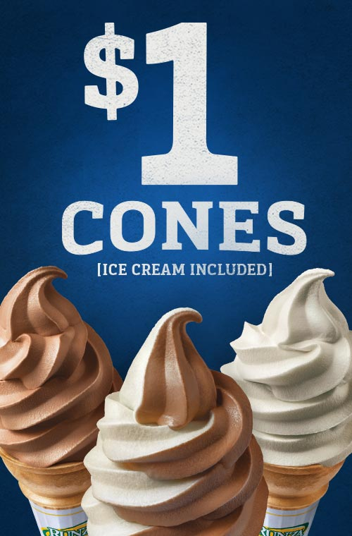 $1 Ice Cream Cones