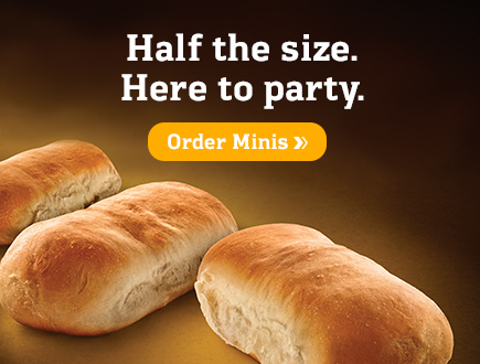 Half the size. Here to party. Order Minis!