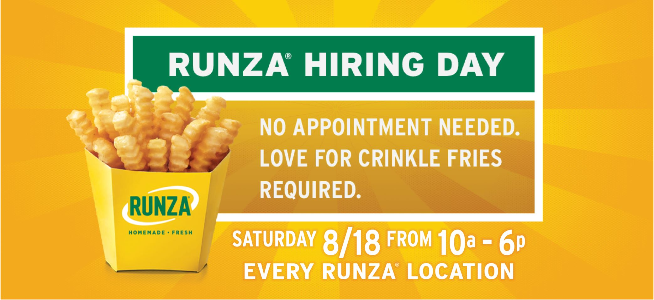 Runza Hiring Day 2018
